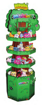 Moshlings collection stand with new plushies
