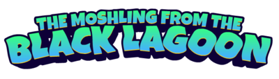 The moshling from the black lagoon logo