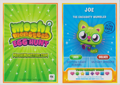 Egg Hunt trading card back and front