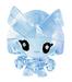Captain Squirk figure squishy blue