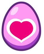 Mystery Egg Heart