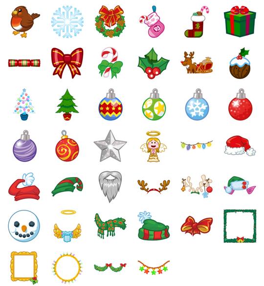 PopJam christmas stickers