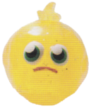 Podge figure glitter yellow