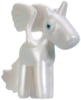Angel figure pearl white