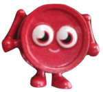Wallop figure bauble red