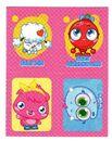Sticker Poppet quartet 44-63-107-97