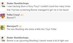 Buster Bumblechops chat 23 July - Bonnie
