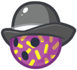 Purple Flecked Bowler Ball