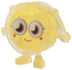 Wallop figure glitter yellow