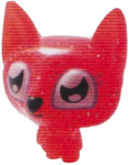 Lady Meowford figure glitter orange