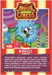Collector card magnificent moshi circus woolly