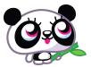 Shishi holding bamboo artwork
