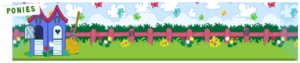 Ponies zoo background full