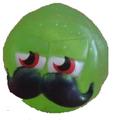 Mustachio figure glitter green