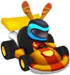 Moshi Karts helmet neon shadow