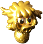 Woolly circus figure gold