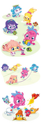 Mazzatack character design Poppeteers spot illustrations