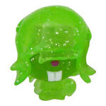 Dustbin Beaver figure glitter green