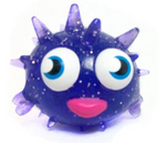 Blurp figure glitter purple