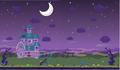 Moshling Boshling background haunted house