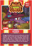 Collector card magnificent moshi circus rebus