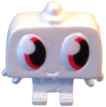 Nipper figure pearl white