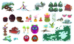 Celinechoo top down game assets and props