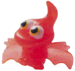 Gurgle figure glitter orange