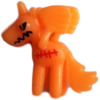 Angel figure pumpkin orange