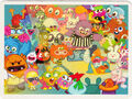 Moshi Monsters Postcard - Dance-off at the Underground Disco