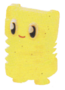 Plinky figure glitter yellow
