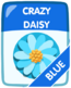 Blue Crazy Daisy