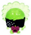 Lady Goo Goo figure glitter green
