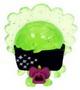 Lady Goo Goo figure glitter green