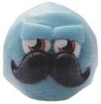 Mustachio figure brilliant blue