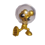 Gumdrop figure gold