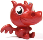 Burnie figure bauble red
