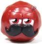 Mustachio figure bauble red