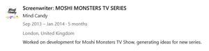 Richard Dinnick Linkedin Screenwriter Moshi Monsters TV Series