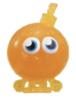 Cherry Bomb figure glitter orange promo