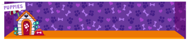 Puppies zoo background full