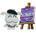 Buster painting