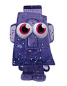 Rocky figure glitter purple