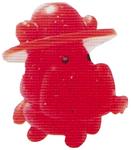 Humphrey figure glitter orange