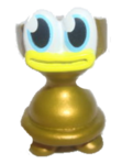 Topsy Turvy figure gold