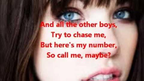 Call me maybe (Lyrics) Carly Rae Jepsen