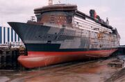 Queen Mary in the docks
