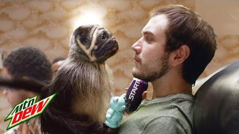Mtn Dew Kickstart-Puppy Monkey Baby commercial 1