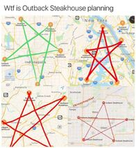 Outback steakhouse pentagram