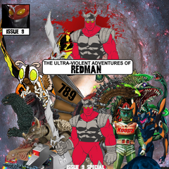 The 100-page long Issue 9, a special issue and the first major crossover with <i>Wikizilla: Rulers of Wiki</i>. In this issue, Redman and the Rulers of Wiki meet and fight Suited Shadow's new form. Can this new fighting force defeat the demonic Suited Shadow?